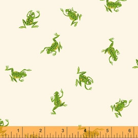 Green frog quilt cotton fabrics design