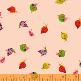 Peach snails quilt cotton fabrics design