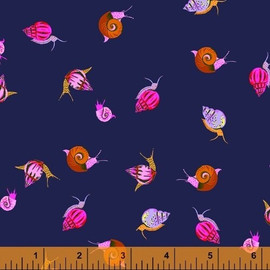 Navy snails Fabrics design