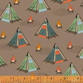 Tan tent camping fabrics design