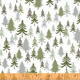 Forest trees quilt cotton fabrics design