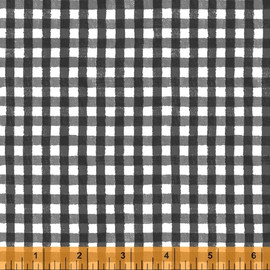 Black gingham plaid fabric, State Fair Windham Fabrics cotton, QTR YD