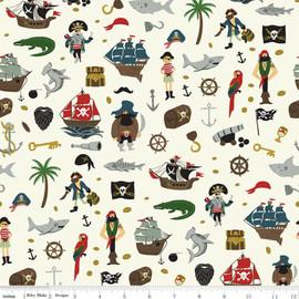 Pirate Tales Treasure Fabrics design