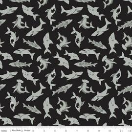 Black Shark cotton fabrics design