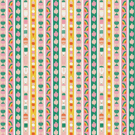 Kids fruit stripe fabrics design