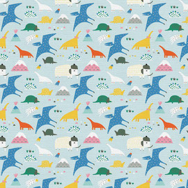 Modern kids animal Palmrise Aruba cotton fabrics design