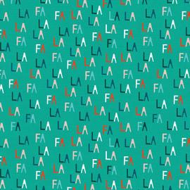 Aqua Fa La letters cotton Fabrics design