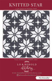 Knitted Star Quilt pattern by Lo and Behold Stichery