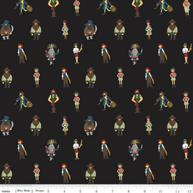 Pirates Black cotton fabrics design