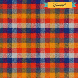 Red blue plaid FLANNEL fabrics design