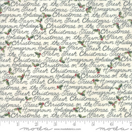 White Farm Fresh Christmas Fabrics design