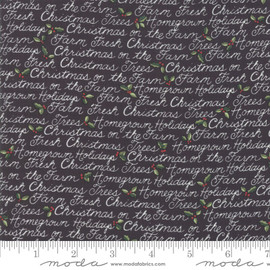 Black Farm Fresh Christmas Fabrics design