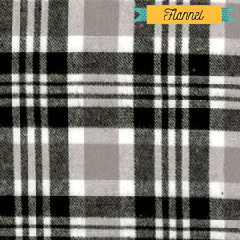 Gray plaid flannel Fabrics design