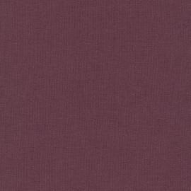 Plum Essex Linen fabric, Robert Kaufman Essex Linens solid fabric, QTR YD