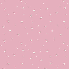 Pink Tiny Hearts fabrics design