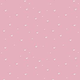 Pink Tiny Hearts fabrics design