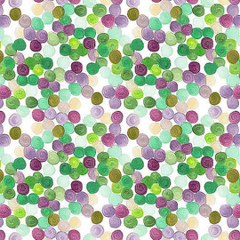 Mardi Gras Sequins cotton fabric