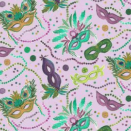 Mardi Gras Masks cotton fabrics design