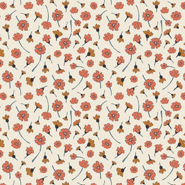 Small cream floral Homebody cotton fabrics design