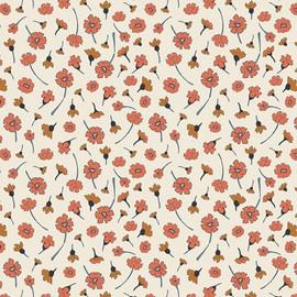 Small cream floral Homebody cotton fabrics design
