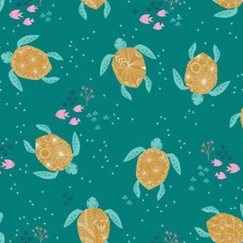 Sea Turtles cotton fabrics design