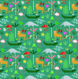Modern animals quilt cotton fabrics design