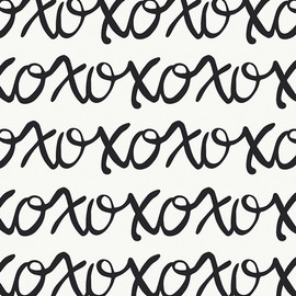 XOXO Black and white quilt cotton fabric - Art Gallery Capsules QTR YD