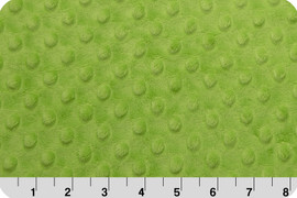 Lime Green Dot Minky Fabric, Shannon Fabrics Jade minky, QTR YD