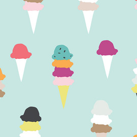 Ice Cream Fabric Multicolored, Art Gallery I Scream You Scream cotton, QTR YD