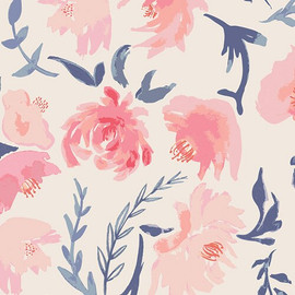 Watercolor floral fabrics design