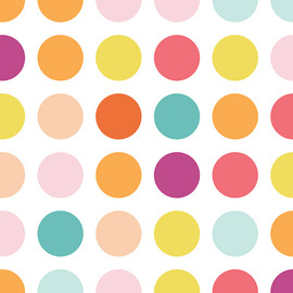 Polka Dots Fabric, Art Gallery Fabrics Candy Dots Ice Cream cotton fabric, QTR YD