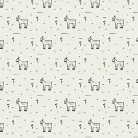 Grazing Goats farm animals fabrics design