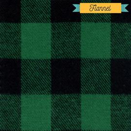 Green Black buffalo plaid flannel Fabrics design