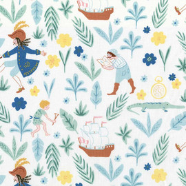 Peter Pan Captain Hook boys fabric, Michael Miller kids cotton fabric, QTR YD