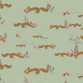 Squirrel sewing fabrics design