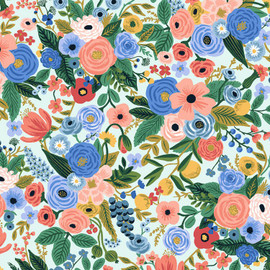 Garden Party Petite blue white fabrics design