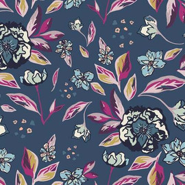 Enchanted Flora Ablue fabrics design