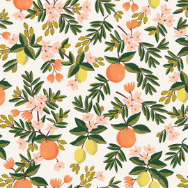 Citrus Floral Cream by Rifle Paper Co., QTR YD