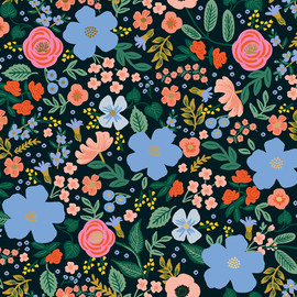 Wild Rose, Black Metallic by Rifle Paper Co., QTR YD
