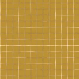 Mustard Grid modern fabrics design