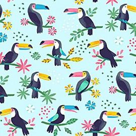 Toucan tropical bird fabrics design