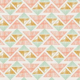 Pink mint aztec fabrics design