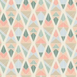 Diamond Fragments Rose cotton fabrics design