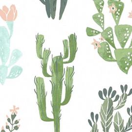 Watercolor cactus succulent fabrics design