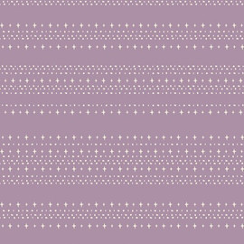 Purple stars aligned treat cotton fabrics design