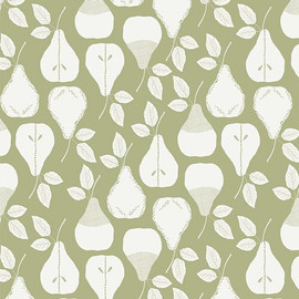Green pear sweet Harvest Olive cotton Fabrics design