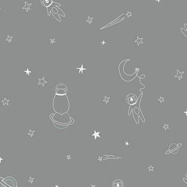 space animal fabrics design