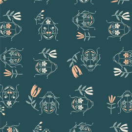 June Bug Waltz Meriwether cotton fabrics design