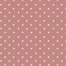 Dark coral white dot fabrics design