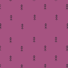 Purple pine tree forest fabrics design